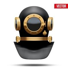 Underwater diving helmet vector image
