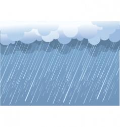 Wet day landscape vector
