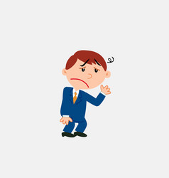 White businessman very tired and somewhat dizzy vector