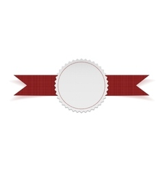 White Label Template on red Ribbon vector image