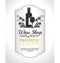 Wine digital design vector