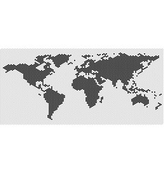 world map outline vector image vector image