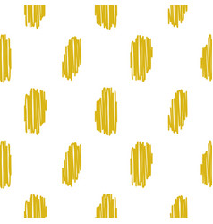 Yellow embroidered rough dots pattern vector