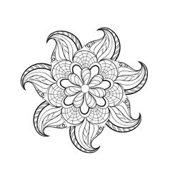 Zentangle stylized tribal Arabic Indian Mandala vector image