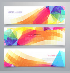 abstract funky banners set of three vector image