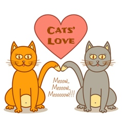 cats love vector image