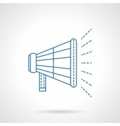 Loudspeaker flat blue line icon vector image