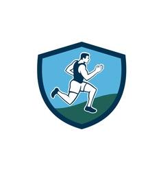 Marathon Runner Crest Retro vector image vector image