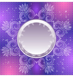 Violet vintage abstract background vector image vector image