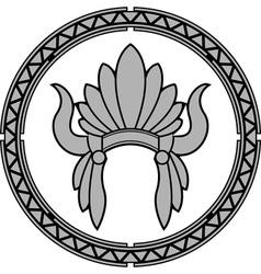 american native indian headdress vector image