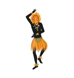 Ethnic dance african man in a mask vector image