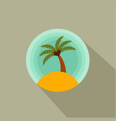 palm trees color icon of a palm tree on the vector image