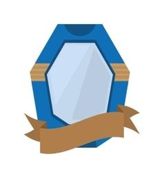 shield protection emblem blue frame ribbon vector image vector image