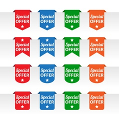 Special offer paper tag labels vector image