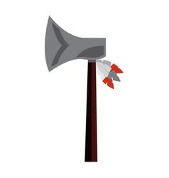 axe native american indian weapon vector image