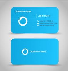 Business card set template blue color vector
