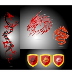 emblems and dragons vector image vector image
