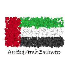 flag love unitaed arab emirates flag heart glossy vector image vector image