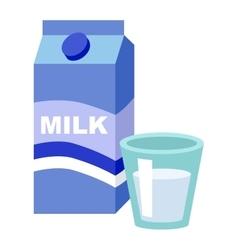 milk box vector image