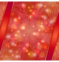 Red vintage abstract background vector image vector image