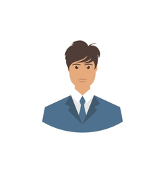 Front face portrait avatar office employee in vector image vector image