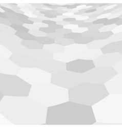 Gray hex grid background texture vector image vector image