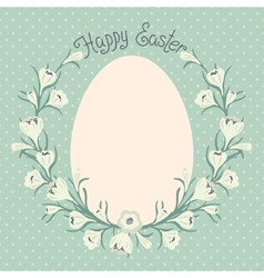 Happy Easter card with place for your text vector image vector image