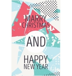 Happy new year and marry christmas card vector image