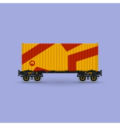 Platform with Orange Container Isolated vector image