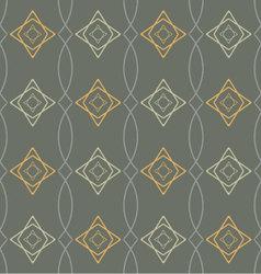 seamless geometric pattern retro vector image
