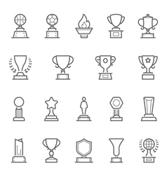 Trophy Awards icons set vector image