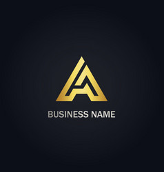 a initial triangle company logo vector image