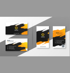 Abstract creative business card design vector