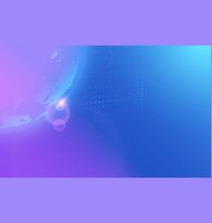 Abstract global technology hi-tech futuristic vector