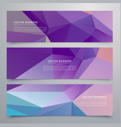 abstract purple banners set of three vector image