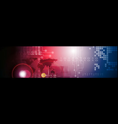 Abstract technology bright web header banner vector