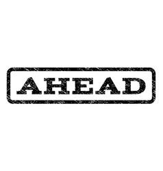 ahead watermark stamp vector image