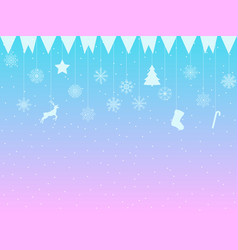 background with snowflakes hanging snowflakes and vector image