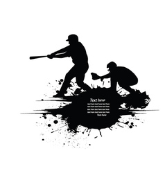 Baseball grunge background vector image