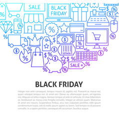 black friday line concept vector image