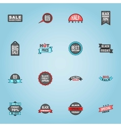 Black Friday sale icons set cartoon style vector image