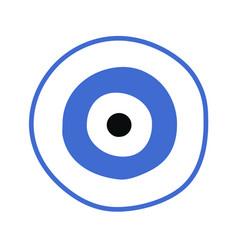 Blue greek evil eye - symbol of protection vector