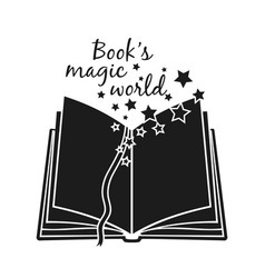 books magic poster vector image