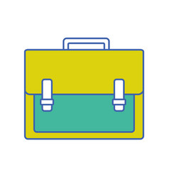 briefcase object to save documents paper vector image
