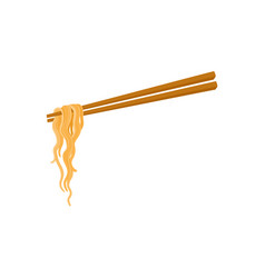 Chopsticks and noodle chinese asian food vector