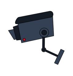 Color image infrared surveillance camera icon vector