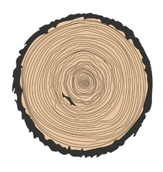 Conceptual background with tree-rings ring vector