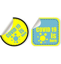 Coronavirus covid-19 sticker covid-19 vector