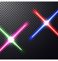 Crossed light swords vector