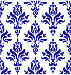 decorative damask seamless pattern vector image